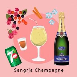 (Delivery) *Sangria de Champagne