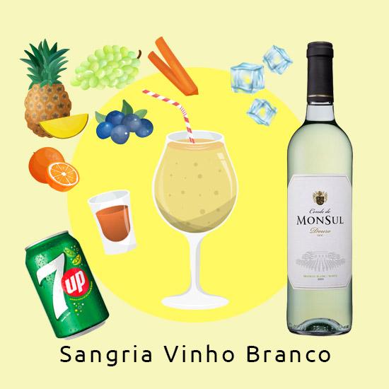 (Delivery) *Sangria de Vinho Branco